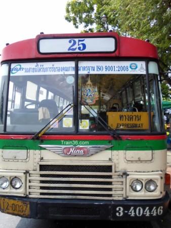 Expressway sign on a bus in Bangkok