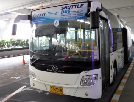 Picture of the free airport shuttle bus