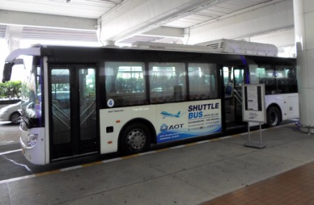 Picture of the free airport shuttle bus at Don Muang airport