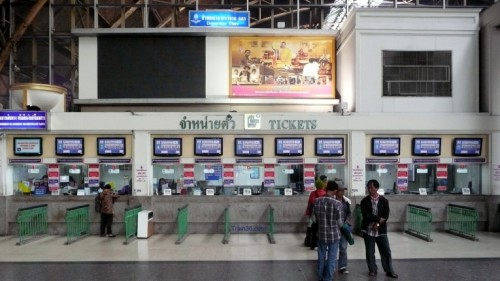 Ticket Counters 1 -11 at Hua Lamphong Railway Station
