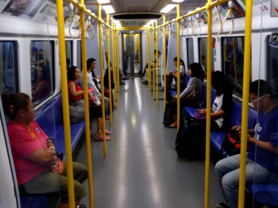 inside the Airport city train