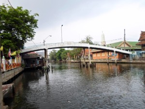 bridge crossing Bangkok Yai canal in Talat Phlu