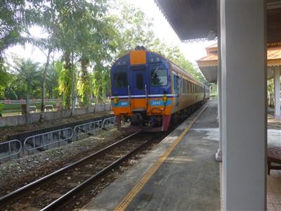 The Padang Besar to Hat Yai train at Padang Besar Railway Station Thailand