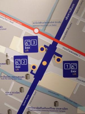 Petchaburi subway station entrances and exits map