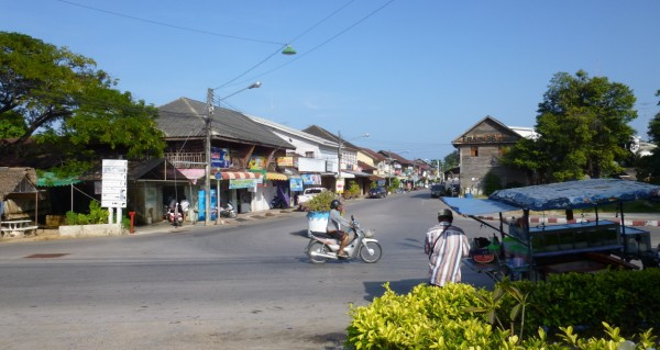 Photo of Prachuap Khiri Khan town as you come out of the train station