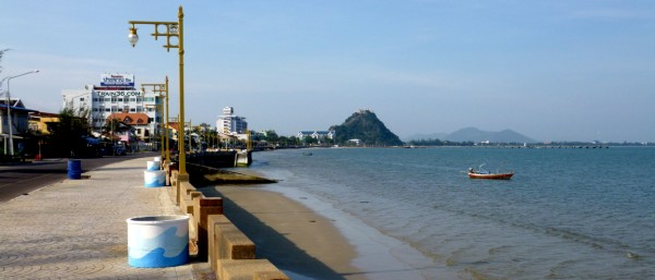 Photo of the seafront in Prachuap Khiri Khan Thailand