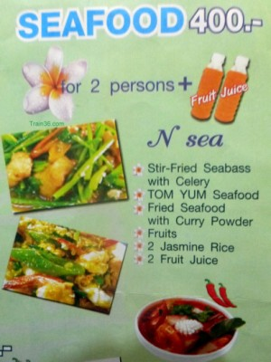 Seafood Menu Set 1