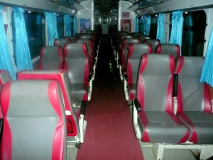 Seats on the Special Express Diesel Railcar Trains in Thailand