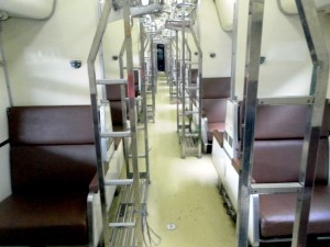 Second Class sleeper carriage train in Thailand
