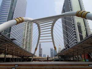 Photo of the sky bridge Narathiwat Sathorn intersection