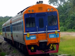 A Diesel Railcar Train in Thailand