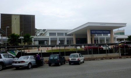 Photo of the front entrance to Sungai Petani Train Station