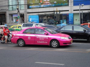 Photo of a taxi in Bangkok Thailand