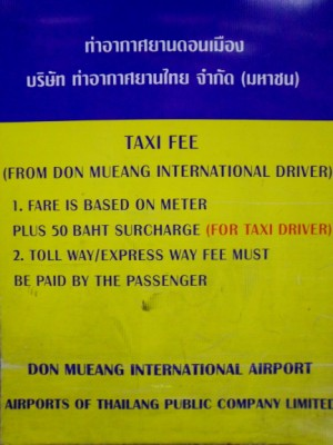 taxi sign at dmk airport