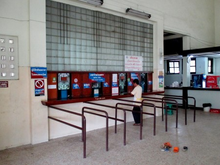 Train ticket selling counters at Makkasan