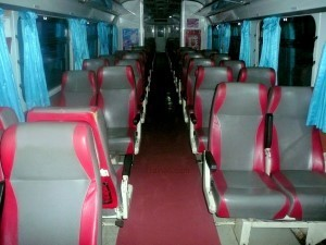 Train 40 seats on a typical sprinter train in Thailand