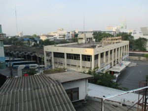 View of Ekkamai bus station from the BTS