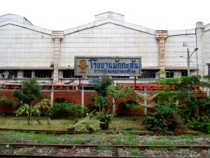 view of Makkasan Depot and Workshop right opposite Makkasan Station