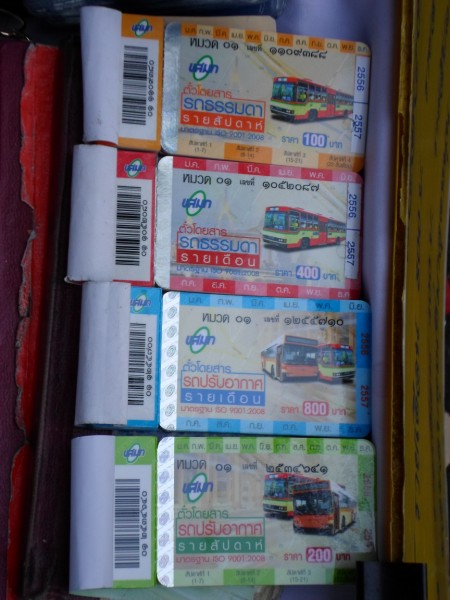 weekly and monthly bus passes for sale in Bangkok