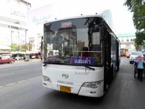 White air-con bus in Bangkok