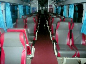 2nd Class seats on A/C coaches on DRC Trains