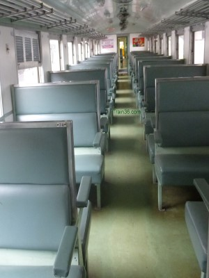 2rd class fan seat railway carriage
