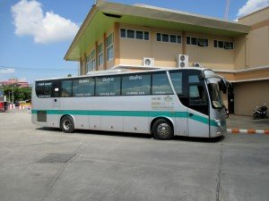 Bus operating Chiang Mai to Chiang Rai Route