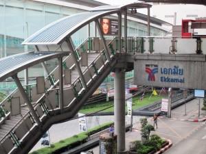 photo of the Ekkamai BTS Sky Train Station