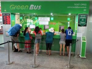 Green Bus Company at Arcade Bus Station