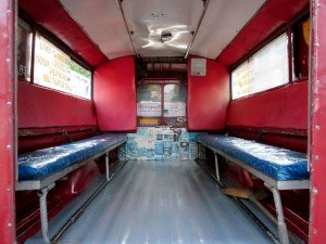 Inside a Red car
