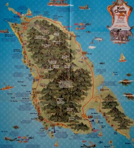 Map of Koh Chang