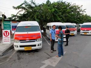 Minibus station on Naresuan-Road