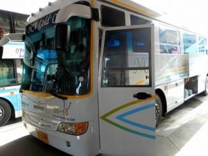 Nakhonchai Air single deck bus at Mo Chit bus terminal