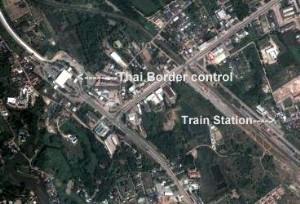 Map of Nong Khai Train Station