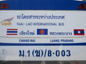 Thailand to Laos international bus