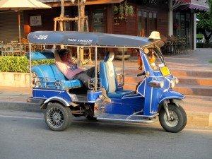 Tuk Tuk driver waiting for a customer