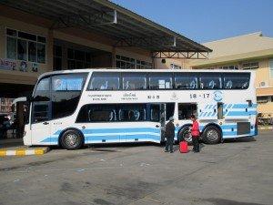 Bus coming from Bangkok at Arcade station