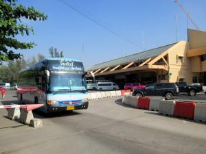 Bus leaving Arcade station for Phitsanulok