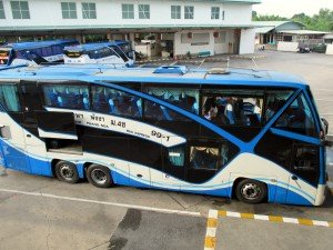 Bus parked at the platform