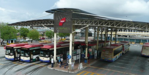 Photo of the bus station at the Jetty in George Town Penang