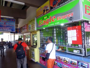 Bus ticket counter at Kuala Perlis