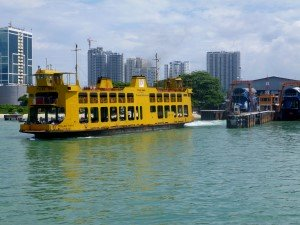 Photo of the Butterworth to Penang Ferry leaving the port