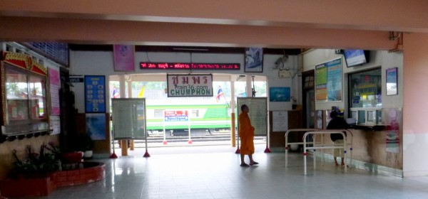 Chumphon ticket office in the main entrance to the building