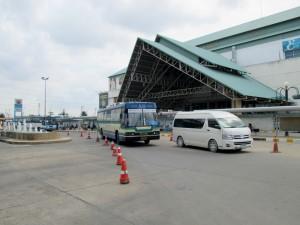 Bus stop in front of Sai Tai Mai