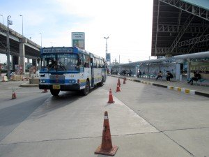 City bus stop in front of the station