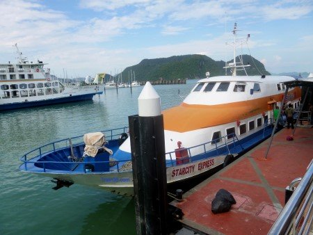 The fast ferry to Langkawi