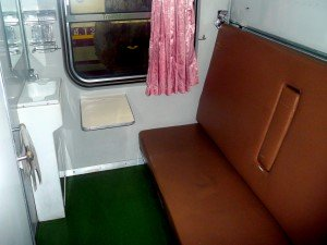 First Class sleeper carriage train in Thailand