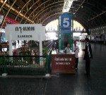 Information counter on platform 5