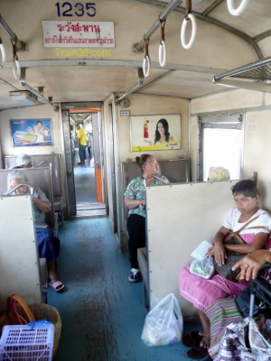 Photo from inside a commuter train