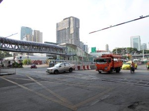 The intersection of Asoke Din Daeng near Makkasan